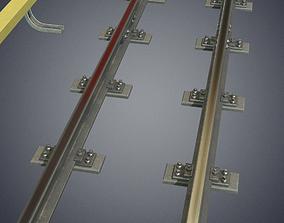 3D asset Underground metro railway