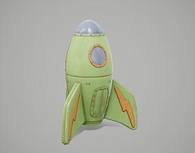 3D asset Fantasy Rocket Ship