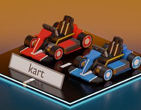lowpoly kart 3D model
