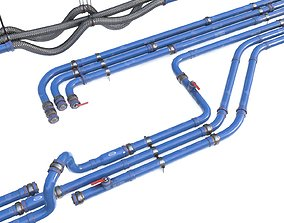 3D model Modular Pipes - Water Treatment