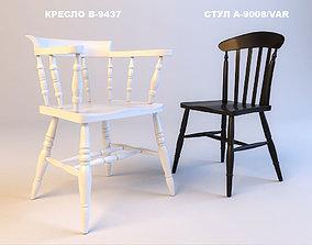 3D model Fameg Chairs A-9008 B-9437