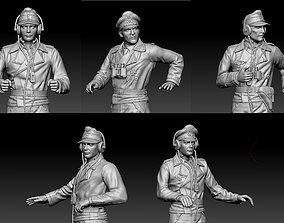 German officers 3D printable model