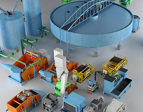 Industrial Coal Preparation Plant 3D