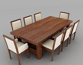 dinning table loveseats 3D