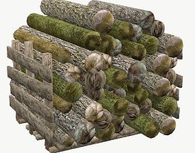 Wood Log Low Poly Type 1 3D model