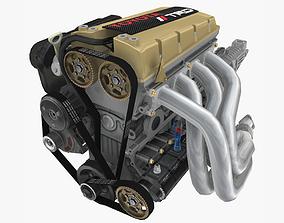 3D asset Toyota TRD 4AGE Formula Atlantic engine