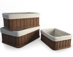 3D model Wicker Rattan Baskets
