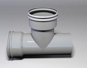 3D model Plastic Pipe Tee