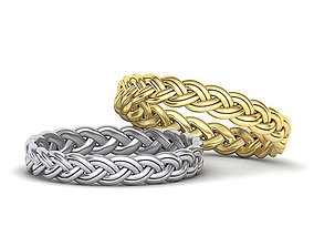 Braided wedding ring Many finger sizes 3dmodel