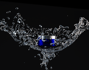 Water Splash 3D Render Ready File Water Splatter