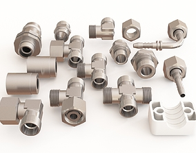 3D model Pipe fitting vol 01