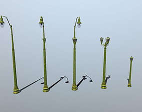 street Lights Stylized 3D