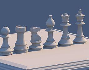 Chess Set 3D asset