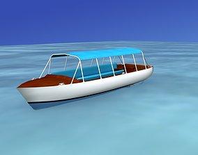 3D model Tour Boat