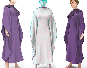 arabic clothing tradisional 3D model rigged