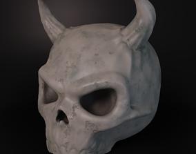 Stylized Deamon Skull 3D