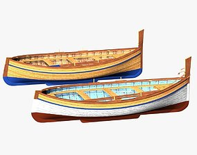 Fishing Rowing Boat - Spanish 3D asset
