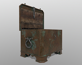 3D model Antique chest safe PBR