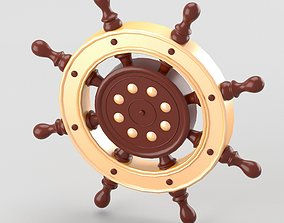 3D model Decorative nautical helm