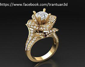 3D printable model lotus 66 Luxury Lotus Diamond Ring