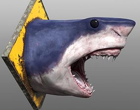 3D model low-poly Shark Head
