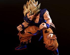 game-ready Son Goku SSJ 3D Model