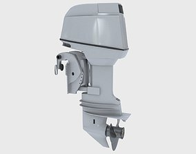 Outboard 60HP 3D model industrial