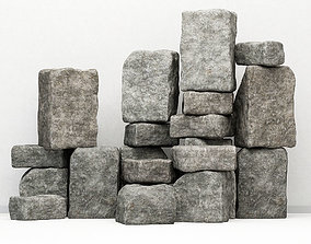 Stone rock collection n5 3D