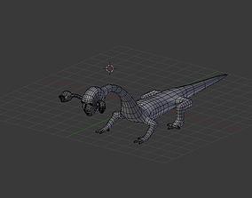 3D model Three Headed Alien BASE MESH