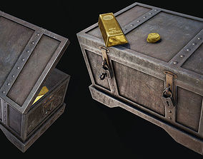 3D asset Gold Chest