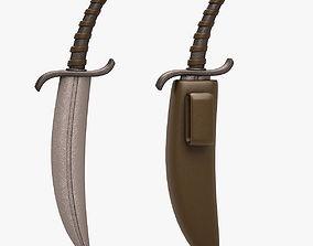 Dagger 3D model low-poly lowpoly