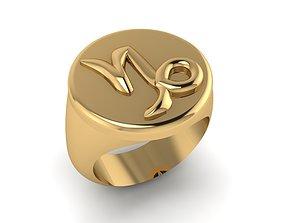 3D printable model Zodiac sign ring Capricorn