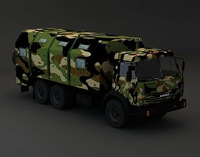 Kamaz Modify 6x4 Army M1 3D model
