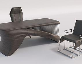 organic desk 210 x 90 x 76 cm 3D model