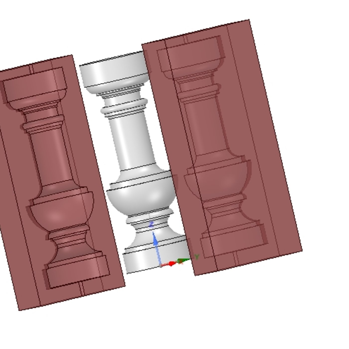 Designing creation of electronic forms for casting from gypsum, aluminum, resin, plastic and other materials, as well as for cold stamping of sheet materials.