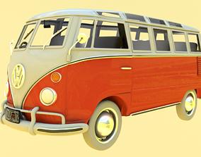 realtime wheel Volkswagen Samba T1 Bus 3D Model