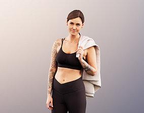 Rachel 11914 - Athletic Woman Standing Jacket On 3D asset
