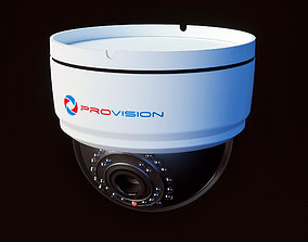 3D model Security Dome Camera ProVision