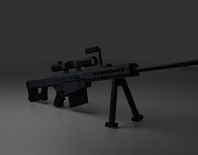 3D asset Barrett M82A1