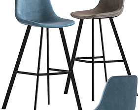 Linea Furniture Abigayle Barstool 3D model