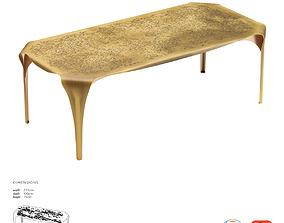 De Castelli Convivium Dining Table 3D asset game-ready