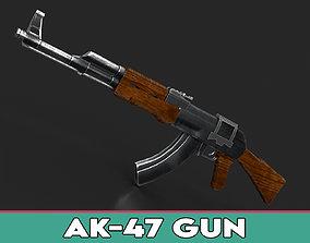 AK-47 Gun 3D model realtime