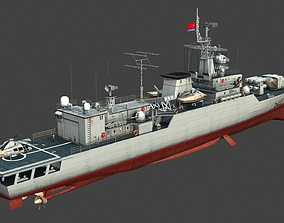 Chinese Navy Type 053H3 Frigate 3D asset