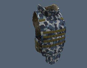 Russian bulletproof vest 6B45 Ratnik 3D model