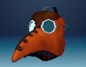Printable Plague Doctor Mask 3D asset