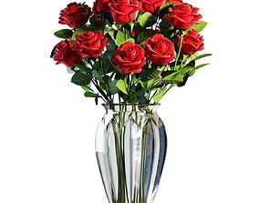 3D model Flower Set 03 - Red Roses Bouquet