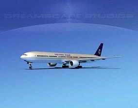 Boeing 777-300 Saudi 3D model