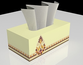 3D model household Tissue Box
