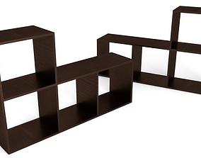 3D asset Mini Book Shelf