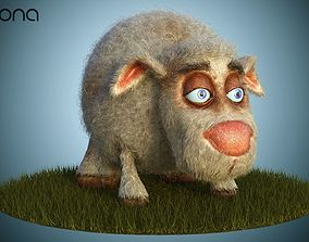 3D model Sheep Dog for production render in Corona